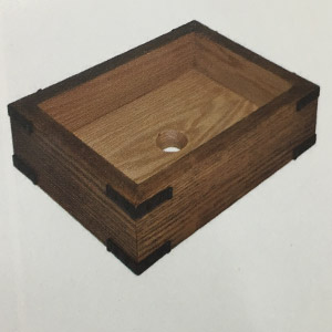 Chậu rửa mặt bằng gỗ sồi KanLy WDE81 1