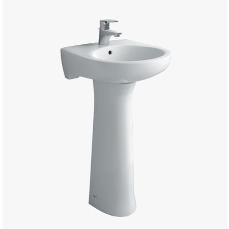 Chậu rửa treo tường chân dài INAX L-284V+L-284VD