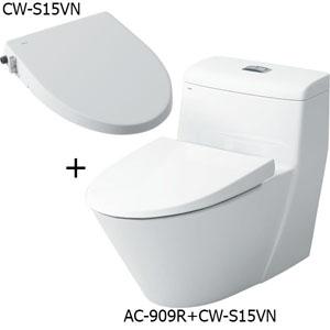 Bồn cầu nắp rửa cơ Inax AC-909R+CW-S15VN