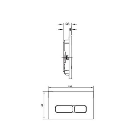 Bản vẽ Nút xả thải Mechanical Hafele 588.73.564