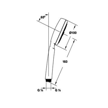 Bản vẽ Bộ sen tay Hafele Hansgrohe Raindance Crometta 100 589.54.012