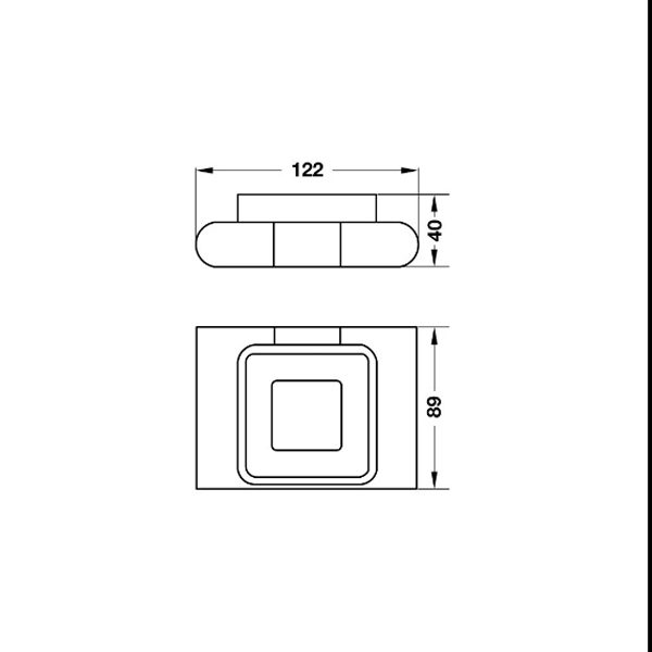 Bản vẽ Đĩa đựng xà phòng InnoGeo-E Hafele 495.80.191