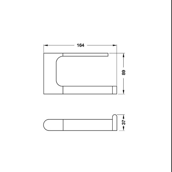 Bản vẽ Gía treo giấy vệ sinh InnoGeo-E Hafele 495.80.193