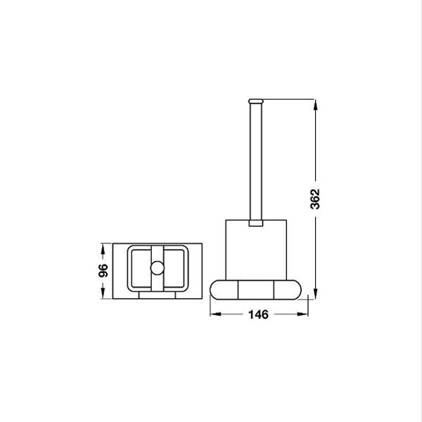 Bản vẽ Cọ vệ sinh InnoGeo-E Hafele 495.80.200