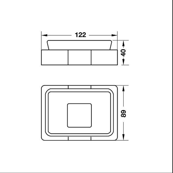 Bản vẽ Đĩa đựng xà phòng InnoGeo-S Hafele 495.80.202