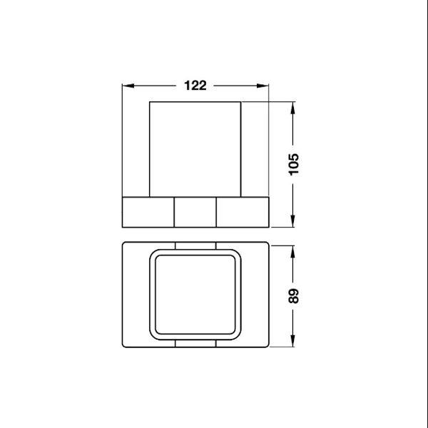 Bản vẽ Gía đỡ và ly InnoGeo-S Hafele 495.80.203
