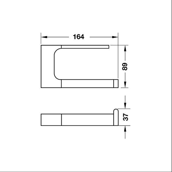 Bản vẽ Gía treo giấy vệ sinh InnoGeo-S Hafele 495.80.204