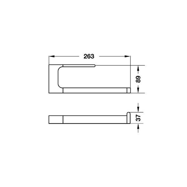 Bản vẽ Vòng treo khăn InnoGeo-S Hafele 495.80.205