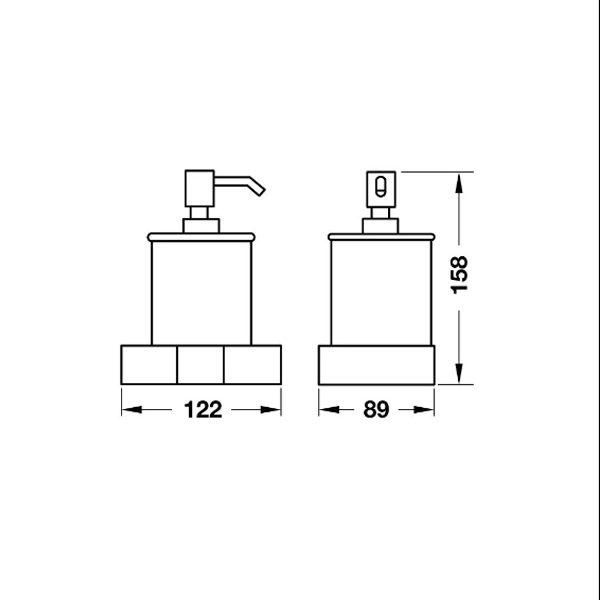 Bản vẽ Bình xịt xà phòng InnoGeo-S Hafele 495.80.206