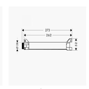 Bản vẽ Bộ âm kệ treo tường ShowerCollection Hafele Hansgrohe