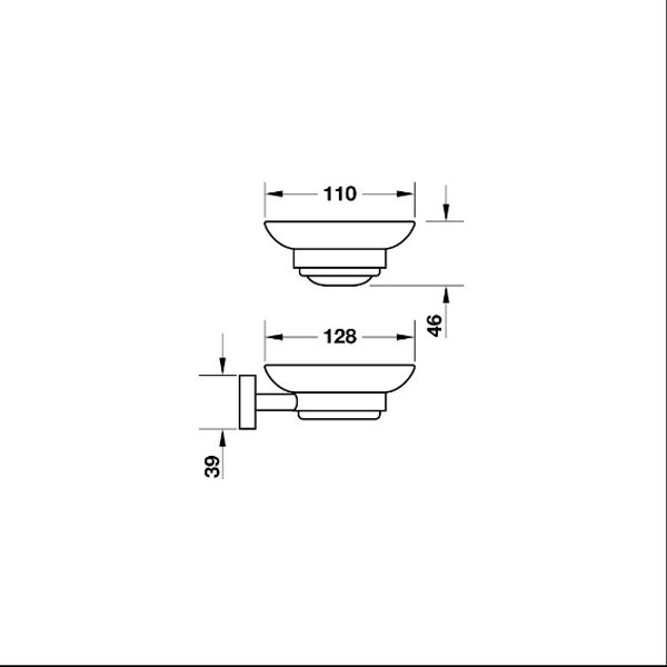 Bản vẽ Gía đựng xà phòng InnoRound Hafele 580.34.350