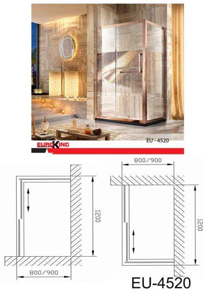 Bản vẽ kĩ thuật Phòng tắm Vách kính EUROKING EU-4520