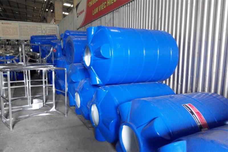Bồn nước nhựa đứng 5000L Sơn Hà 2