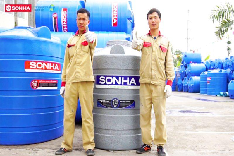 Bồn nước nhựa đứng 5000L Sơn Hà 3
