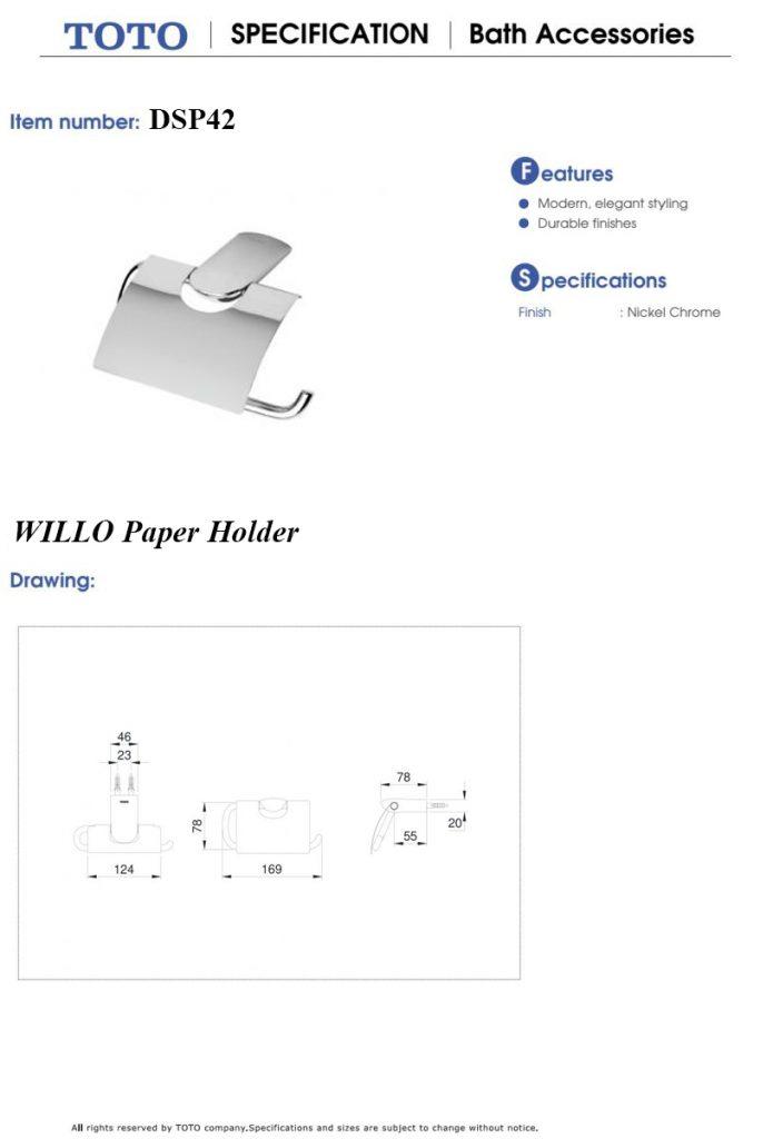 Lô giấy vệ sinh TOTO DSP42