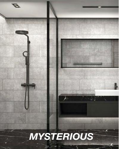 Bộ thanh sen tắm Hafele Mysterious kết hợp Senso hình vuông 589.85.531 1