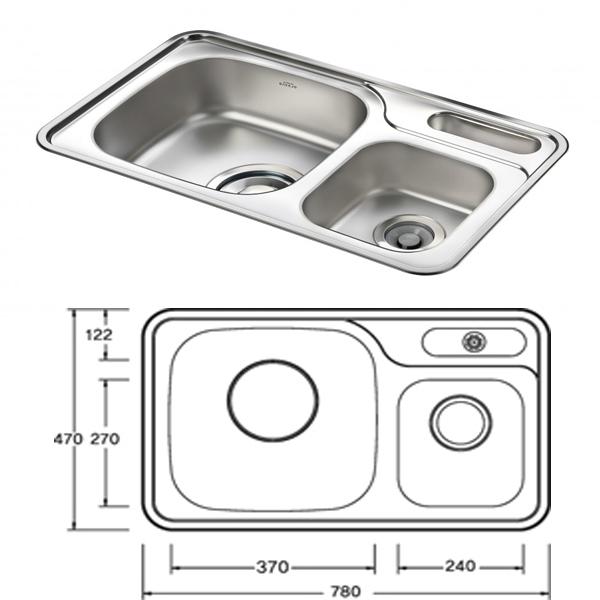 Chậu rửa bát Inox Sobisung SB-780