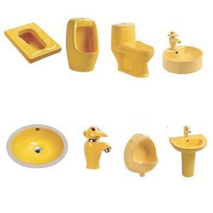 Thiết bị vệ sinh dành cho trẻ mẫu giáo ( màu vàng)