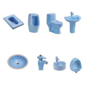 Thiết bị vệ sinh dành cho trẻ mẫu giáo ( màu xanh dương)