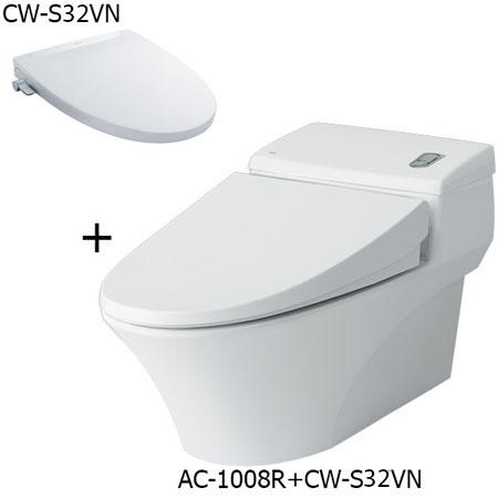 Bồn cầu nắp rửa cơ Inax AC-1008R+CW-S32VN