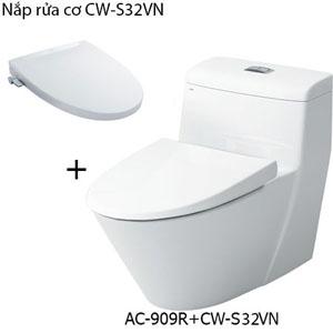 Bồn cầu nắp rửa cơ Inax AC-909R+CW-S32VN