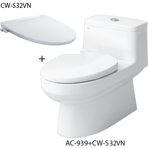 Bồn cầu 1 khối nắp rửa cơ Inax AC-939+CW-S32VN