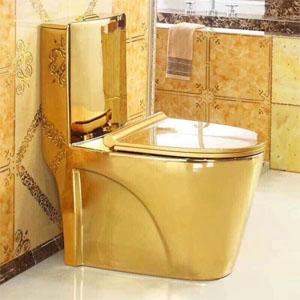 Bồn cầu mạ vàng HT-022 ( đặt từ 10 đến 20 ngày)