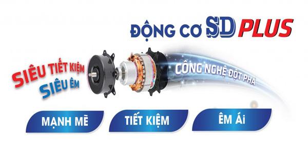 Động cơ SD PLUS cải tiến từ động cơ SD