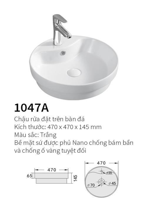 Chậu rửa mặt đặt bàn Kolni 1047A