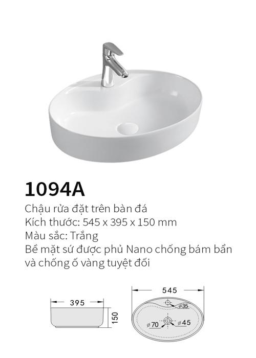 Chậu rửa mặt đặt bàn Kolni 1094A